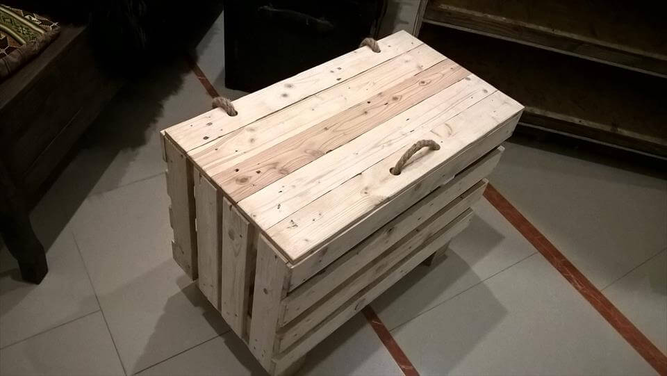 diy pallet chest box