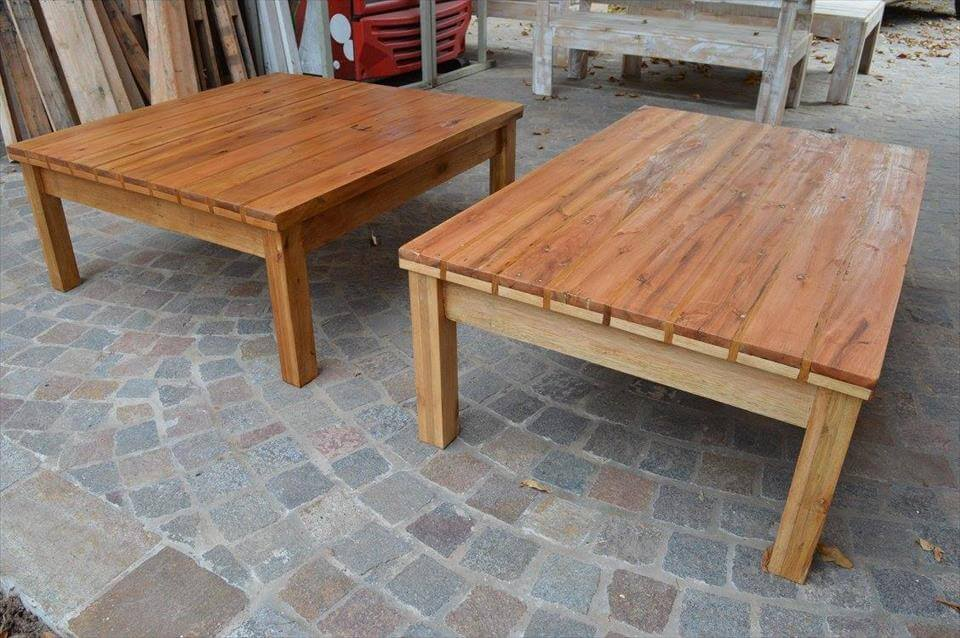 DIY pallet square coffee tables