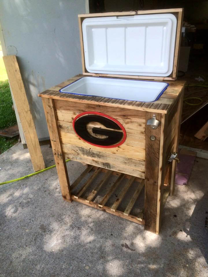 Pallet Cooler Ice Chest From Old Pallets Pallet