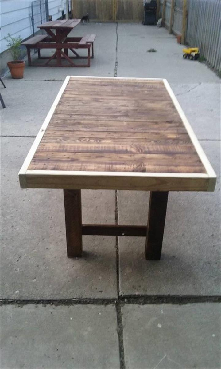 reclaimed pallet dining table pallet furniture diy