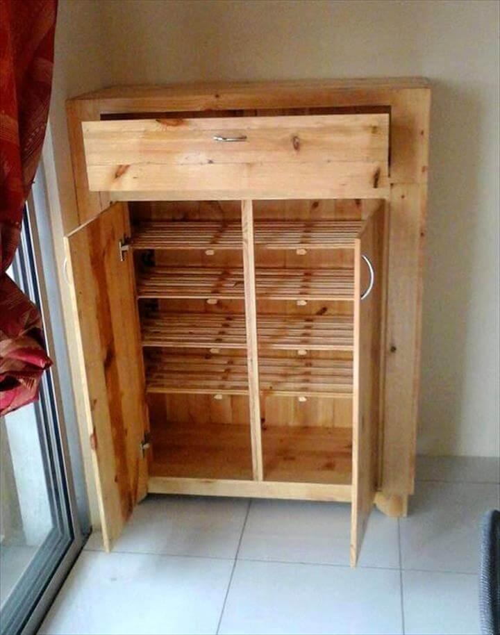 reclaimed pallet kitchen floor cabinet
