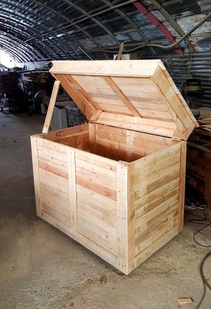 custom pallet large storage box or chest