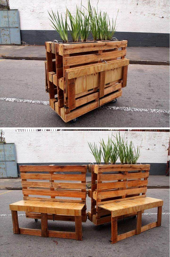 diy pallet planter and potting table