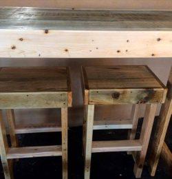 wooden pallet bar furniture or lunch bar set