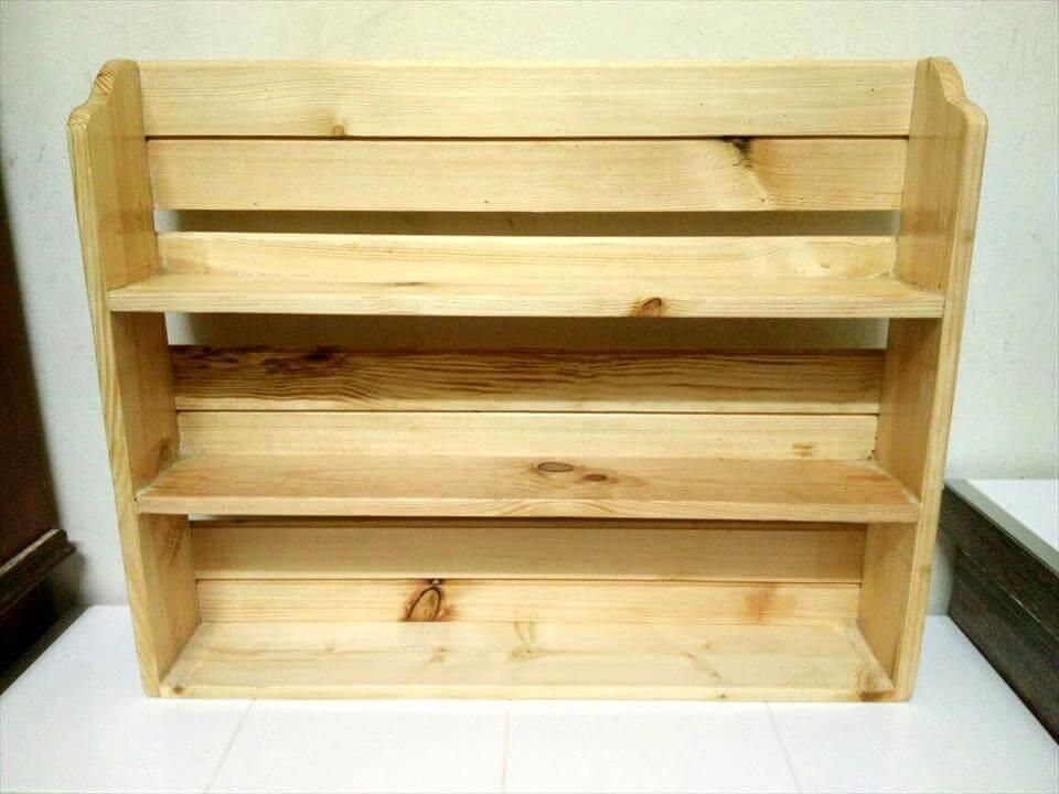 rustic pallet kitchen spice rack