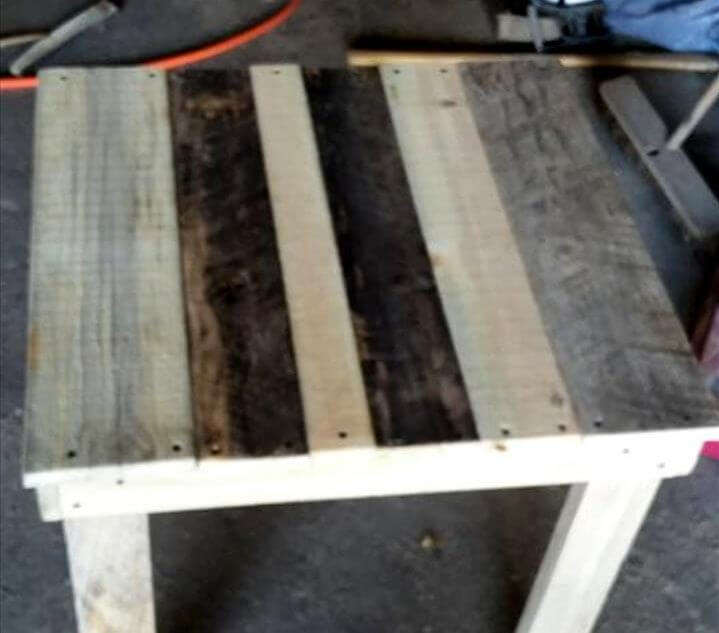 handcrafted wooden pallet mini table