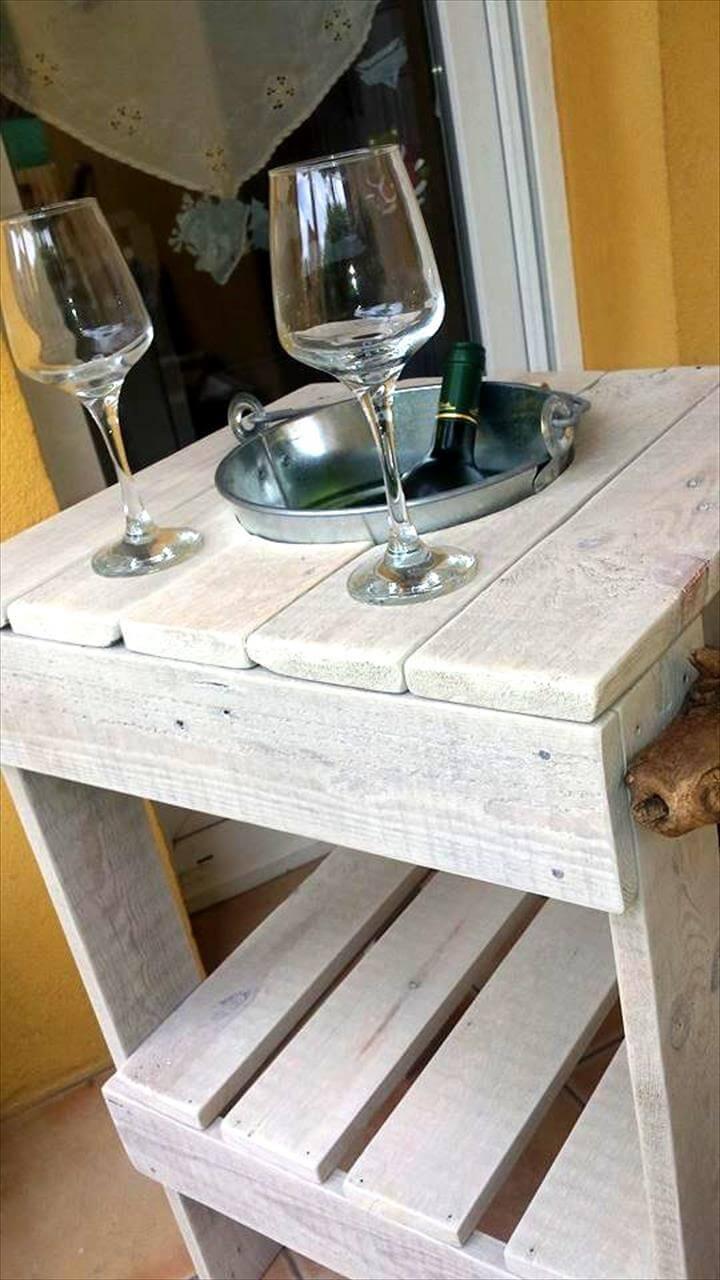 Wood Pallet Ice Bucket Table Pallet Furniture DIY