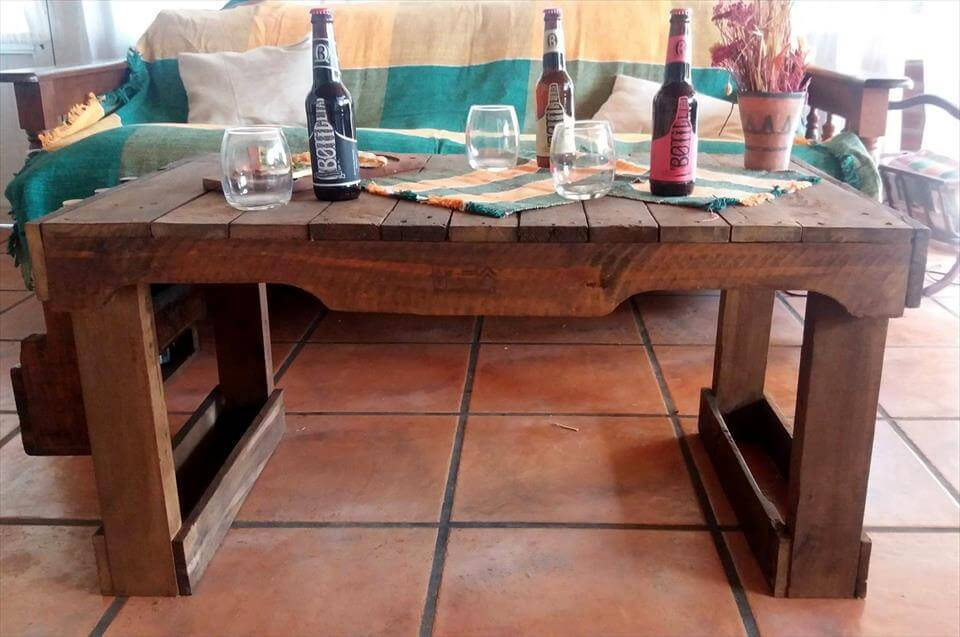 wooden pallet party table