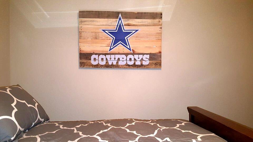custom wooden pallet bedroom wall sign