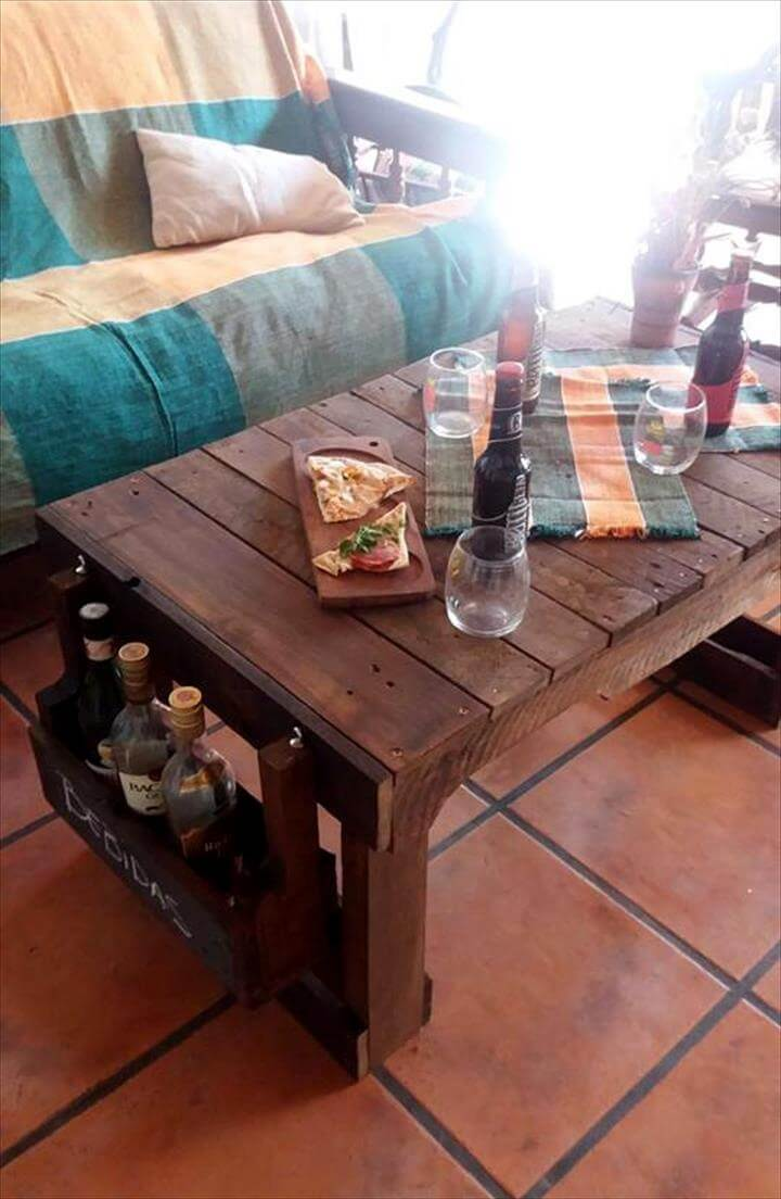 custom wooden pallet party table