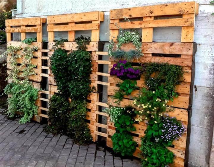 handmade wooden pallet vertical gardens