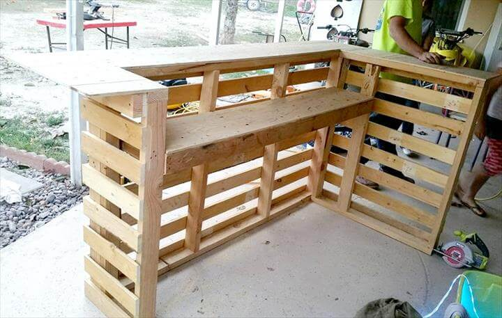 DIY Pallet Bar Furniture