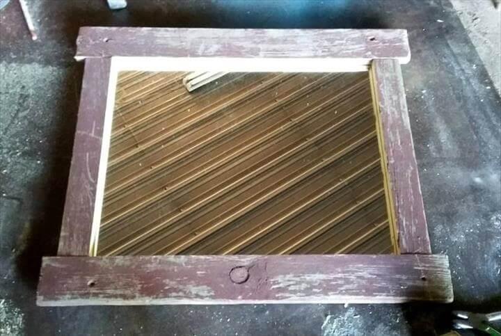 handmade barnwood mirror