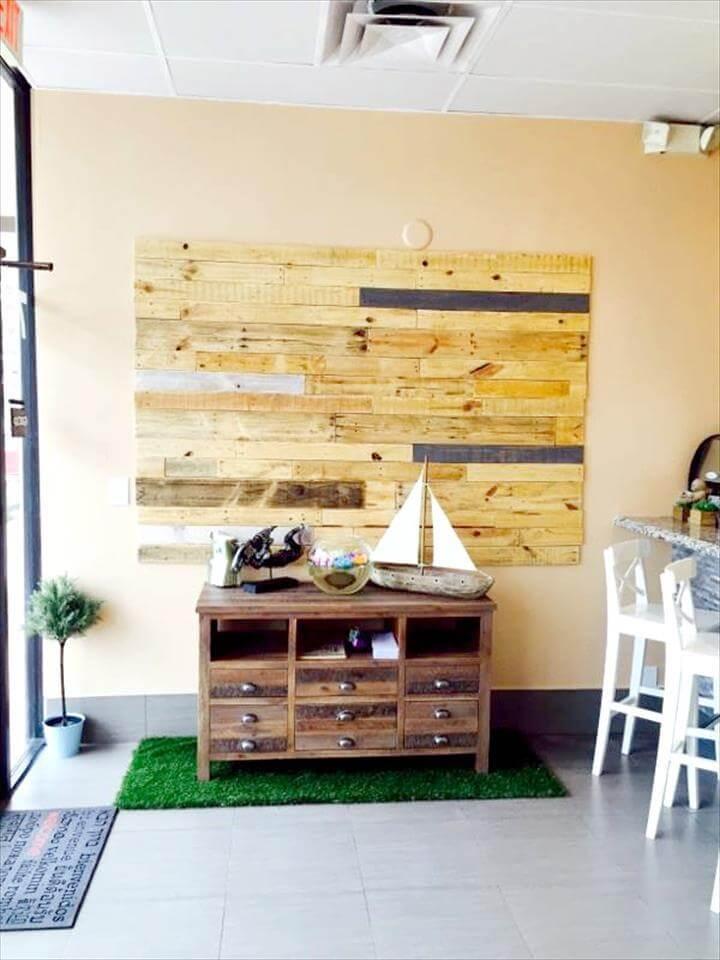 handmade pallet wall art