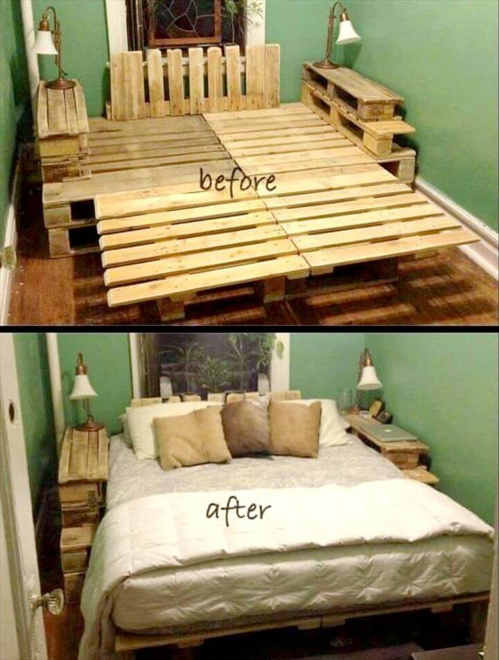 pallet fully featured platform bed