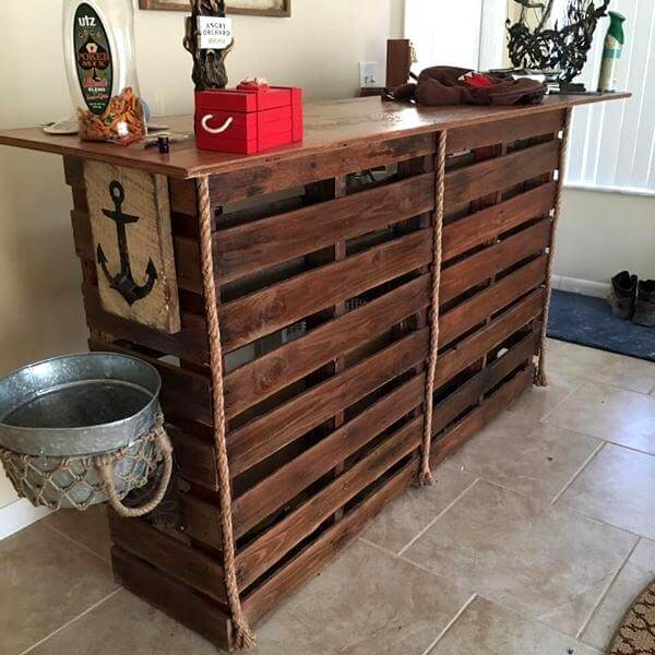 Bar Made From Pallets Pallet Furniture DIY