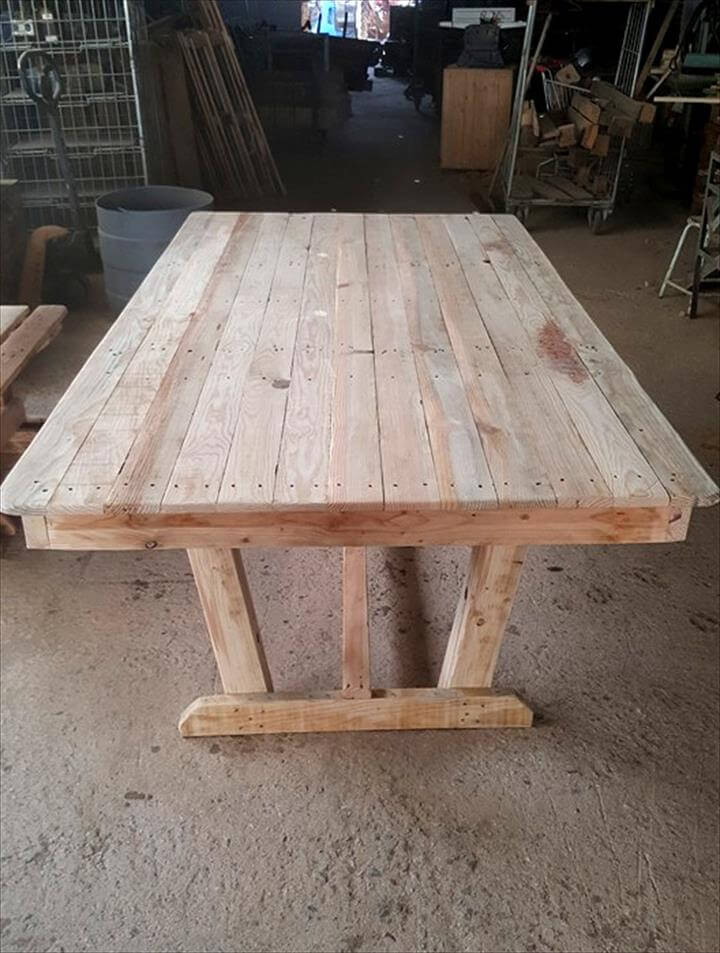 Outdoor Pallet Dining Table Set Pallet Furniture DIY