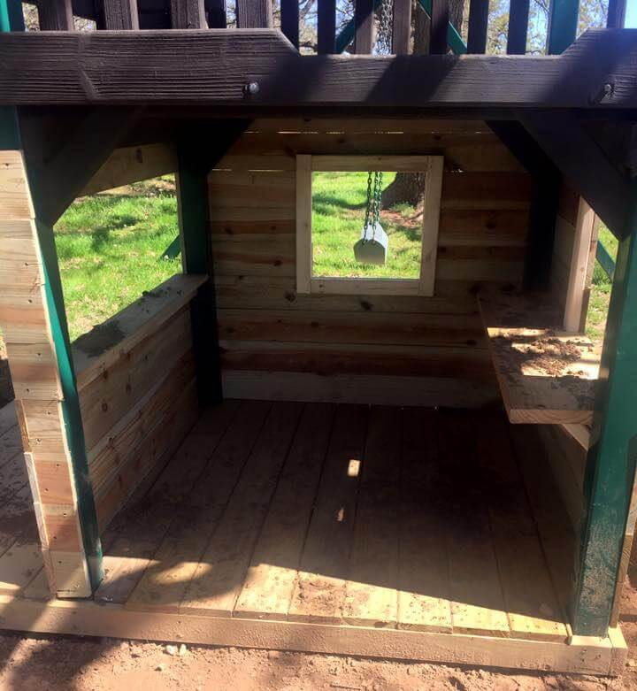 Wooden pallet playhouse