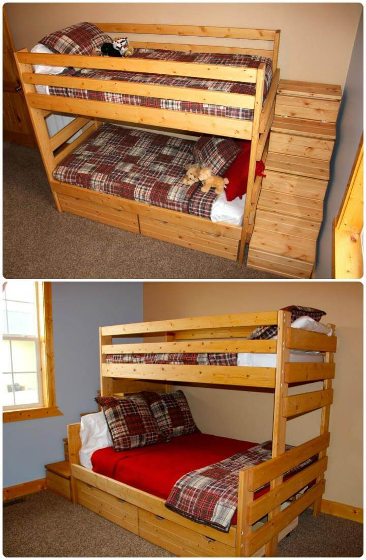 wooden pallet beefy toddler bed