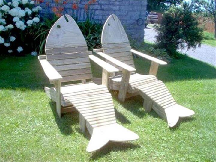 pallet wooden Adirondack fish chairs