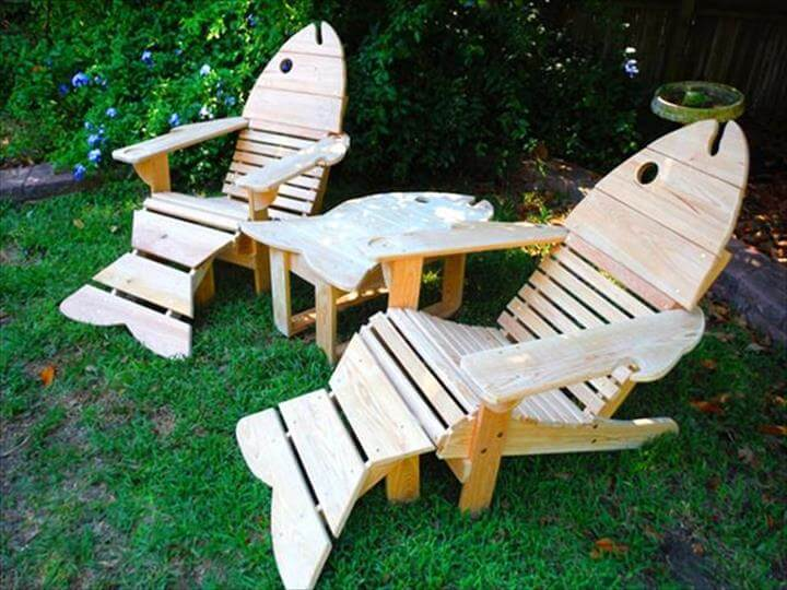 no-cost pallet cool fish Adirondack chairs