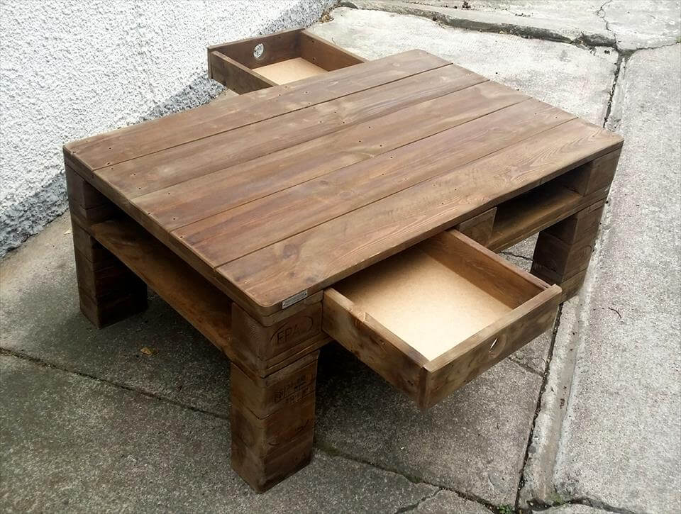 Finish the final coffee table design with chalk paint for a shabby ...