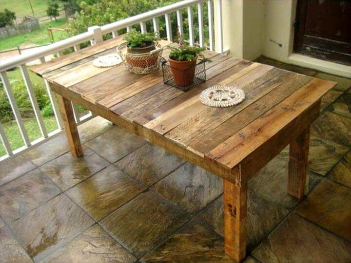 25 Renowned Pallet Projects amp Ideas Pallet Furniture  : rustic pallet dining table from palletfurniturediy.com size 720 x 540 jpeg 66kB