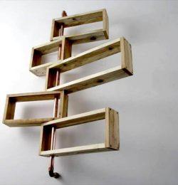 Repurposed pallet shelf unit