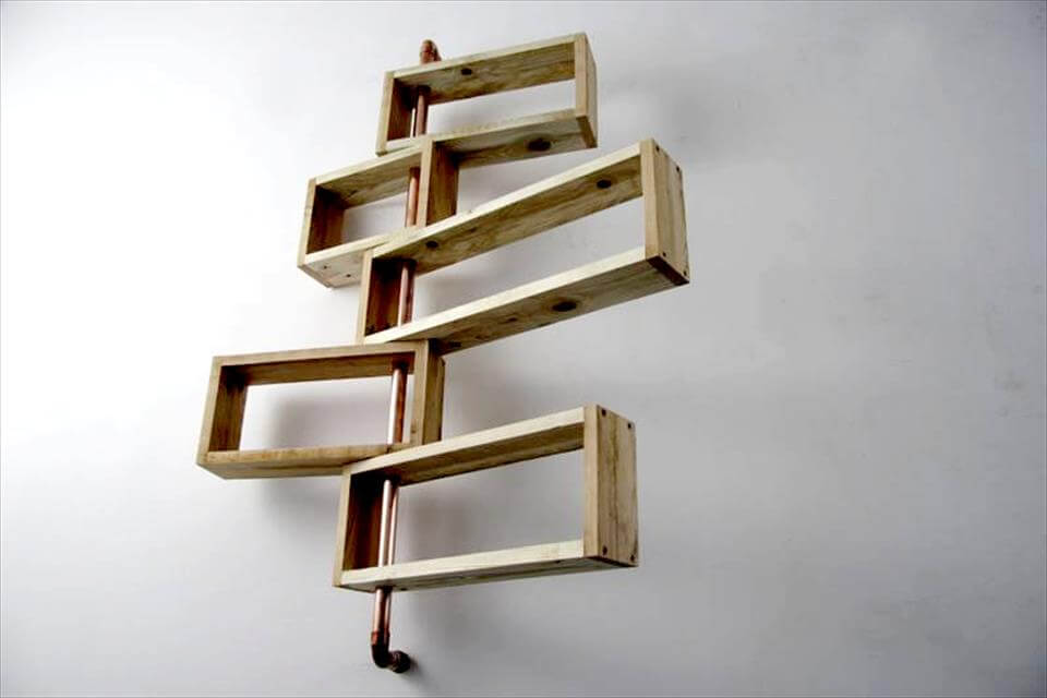 Repurposed pallet shelf unit