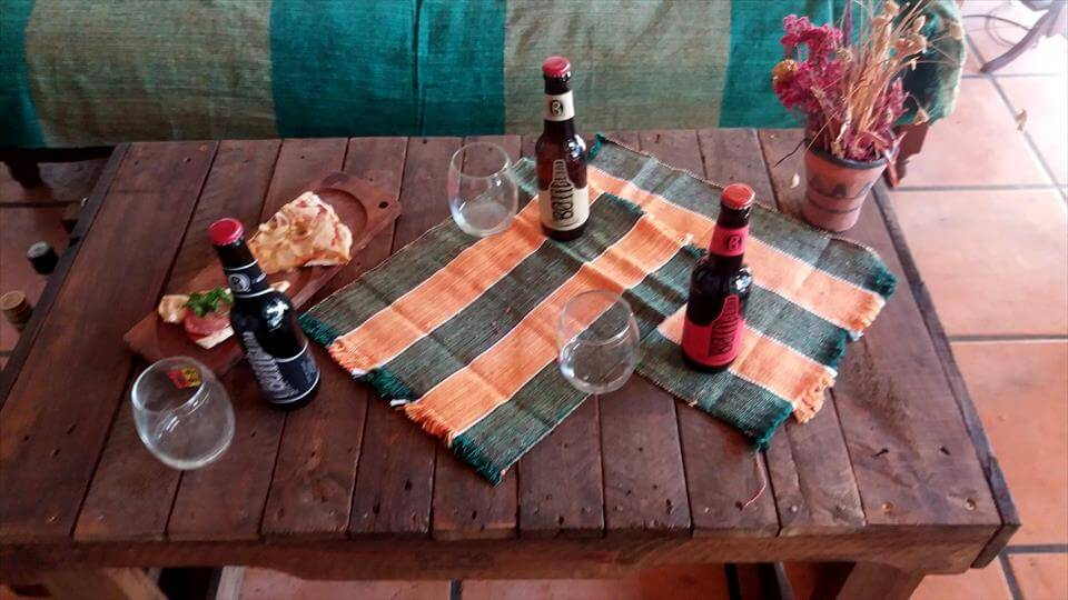 custom pallet beverage party table