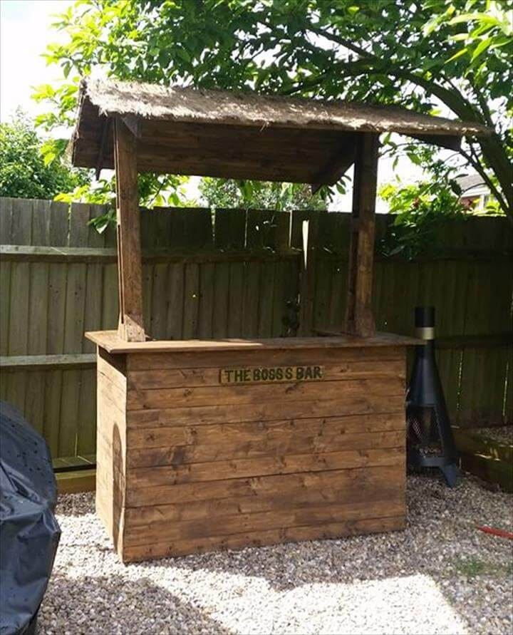 20 unique ideas to use the pallets wood pallet furniture for Pallet garden furniture bar