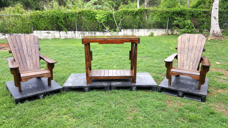 custom wooden pallet sleek wooden table