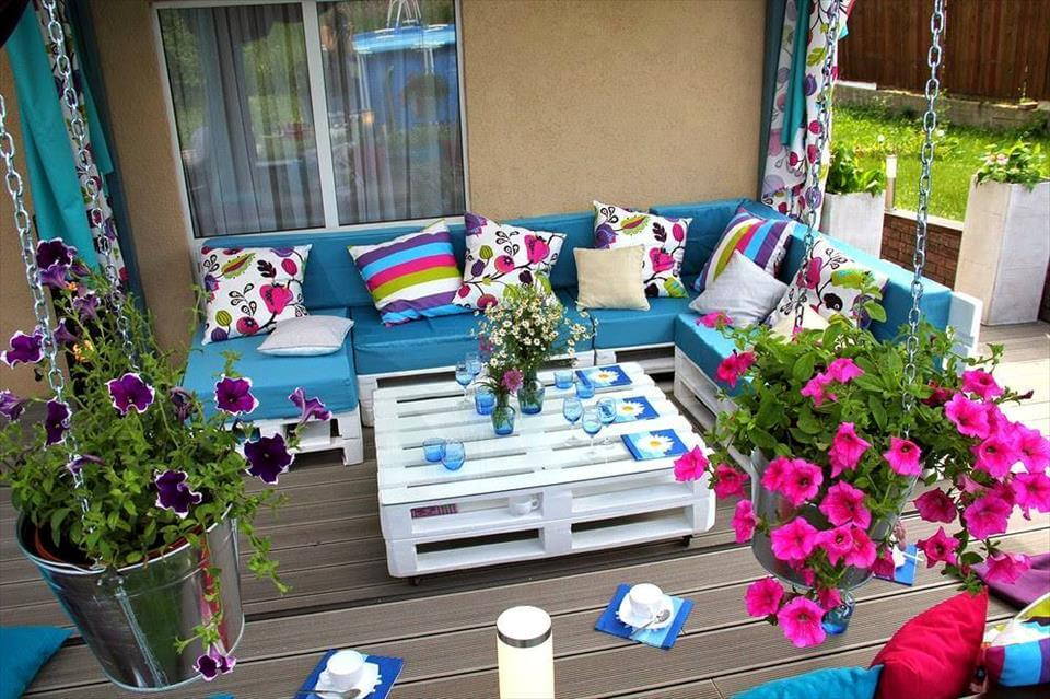 modern style deck seating