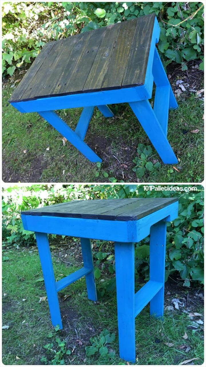 cute and small pallet garden table