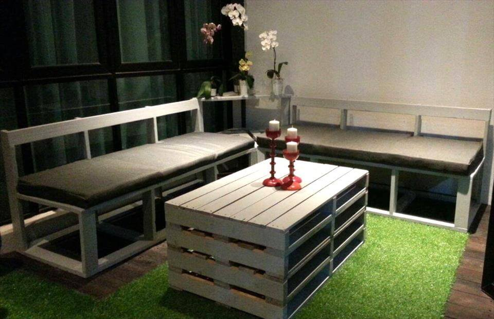 Wood Pallet Patio Seating Furniture Set
