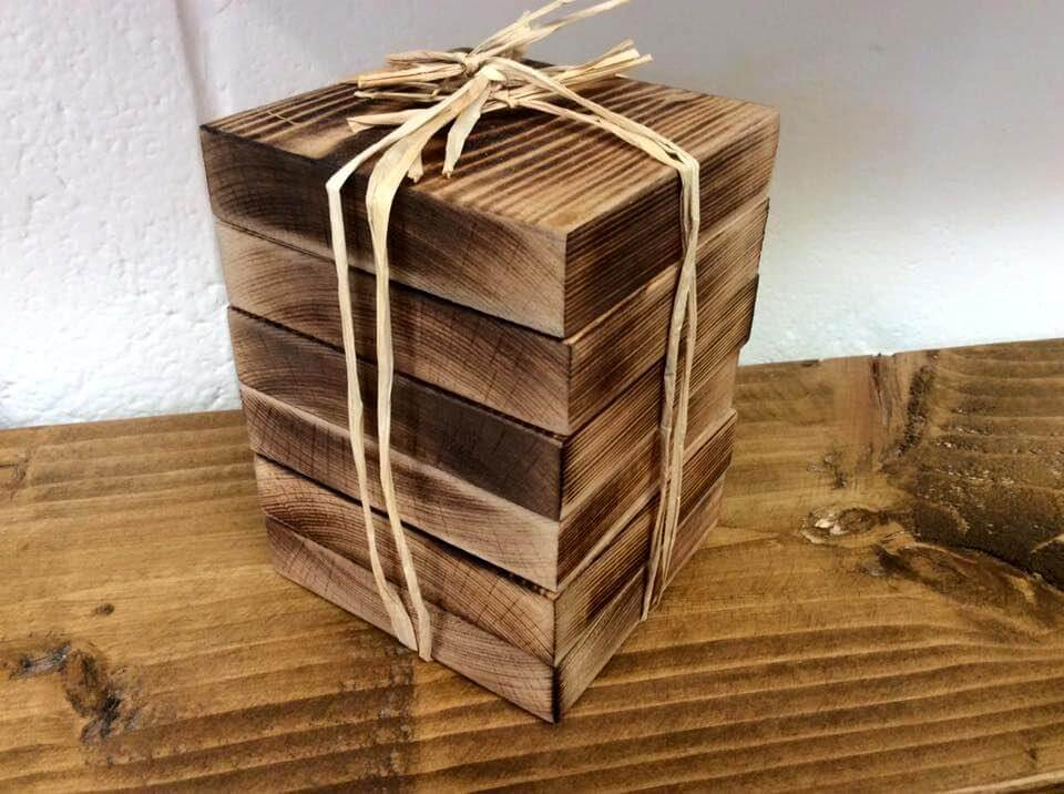 pack of six pallet coasters