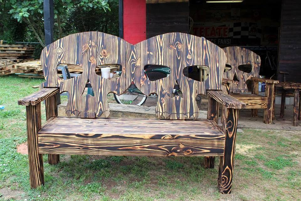Wood Skull Lawn Chairs ~ Unique ideas to use the pallets wood pallet furniture diy