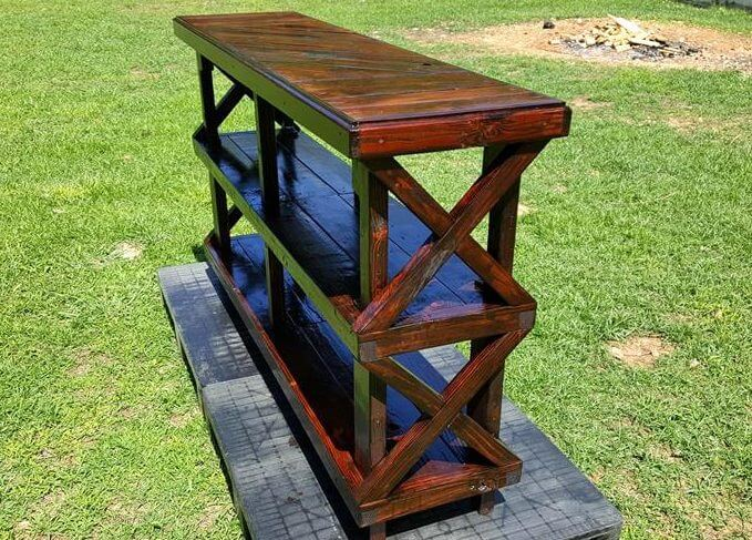 console table made of pallets