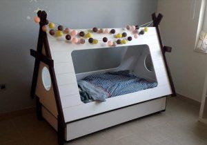 handmade wooden pallet teepee tent bed