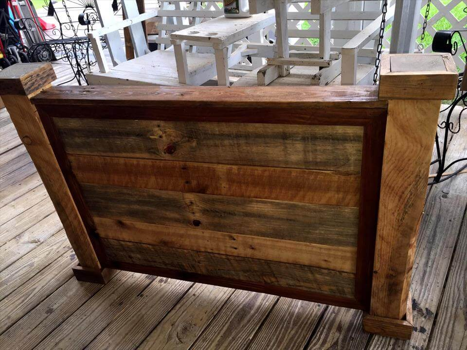 handcrafted pallet robust footboard