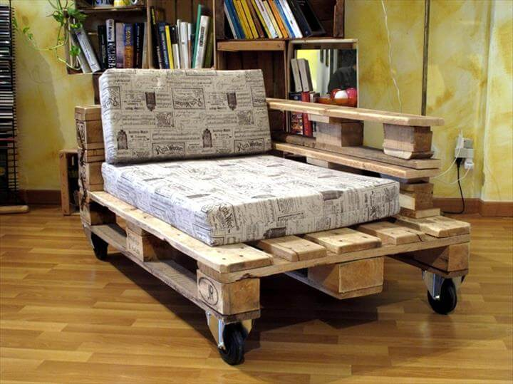 Awesome Pallet Chaise Lounge Chair
