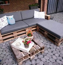 stacked pallet L-sofa