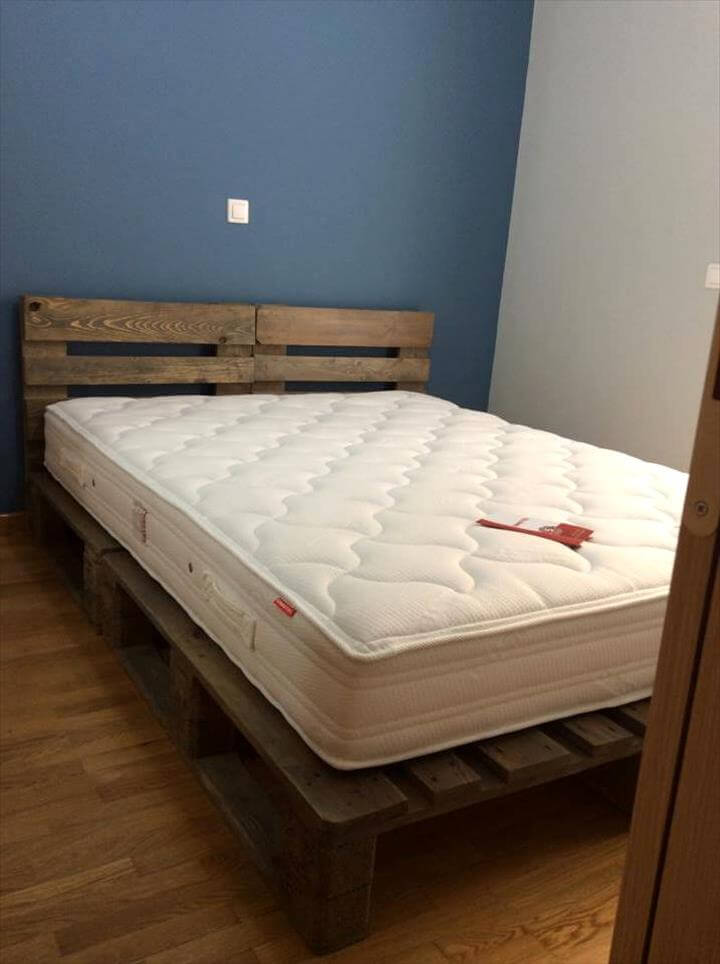 Size pallet bed 28 images pallet wood king size bed for Pallet king bed frame