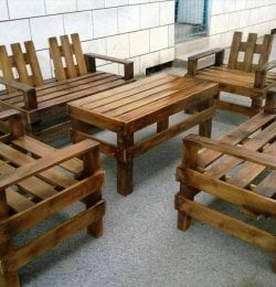 handcrafted pallet patio sitting set