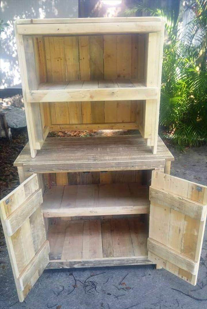 wooden pallet mini cabinets