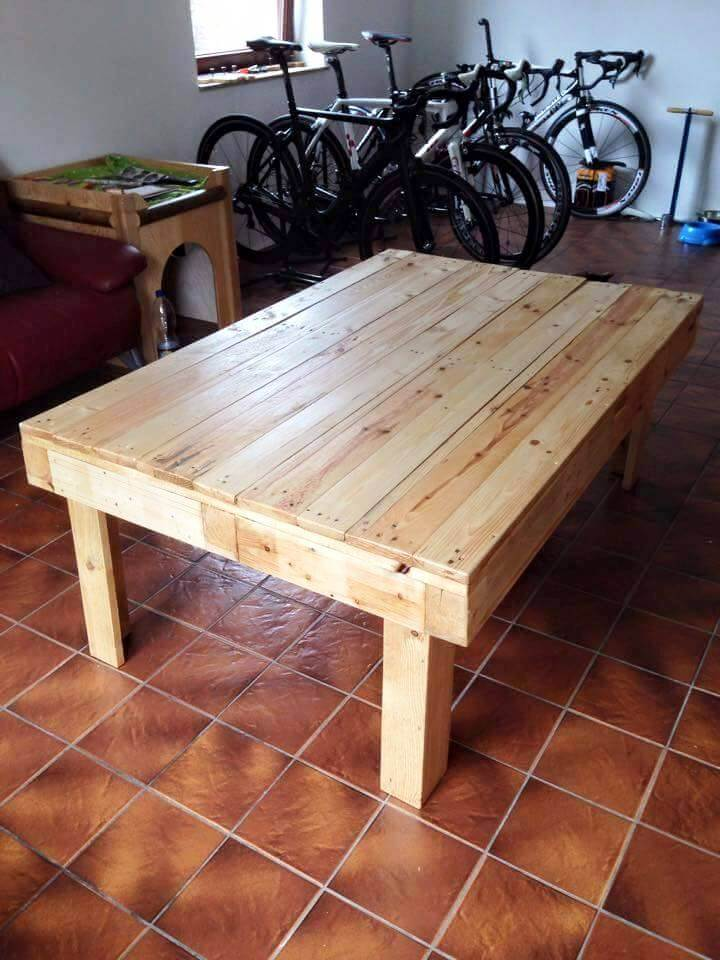 reclaimed pallet low coffee table