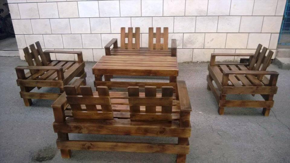 repurposed wooden pallet
