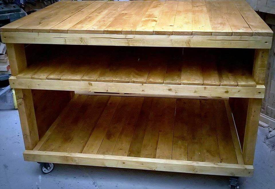 recycled pallet storage unit or organizer