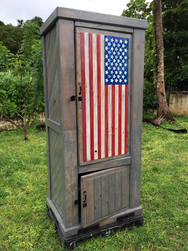 country flag pallet cabinet