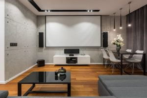 building a home theater from wooden pallets